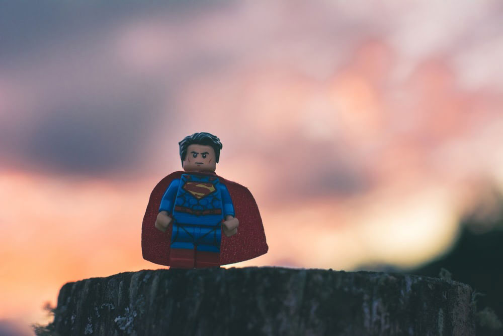 miniature superman figurine