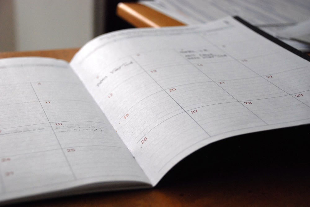 creating a schedule