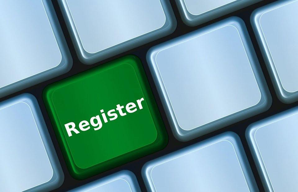 event registration button keyboard