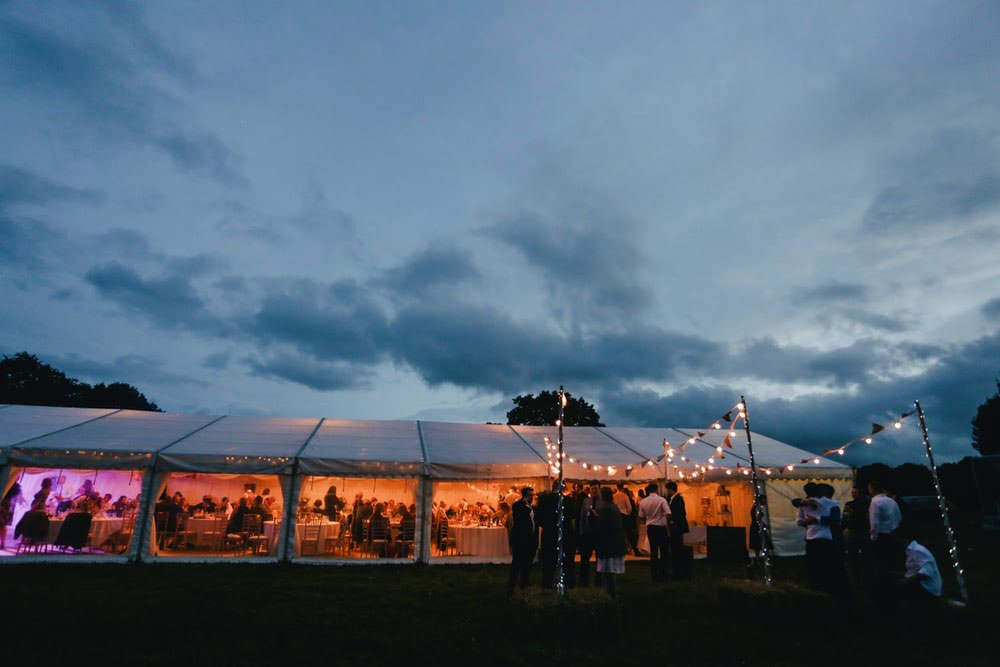 hosting a sustainable event outside