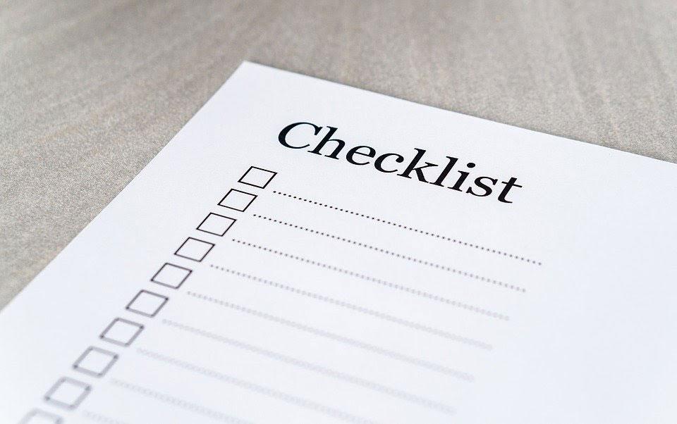 short event registration checklist
