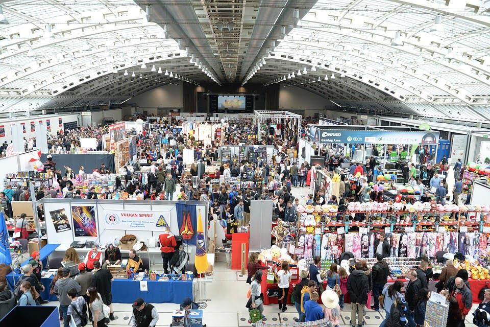 vendors at a convention
