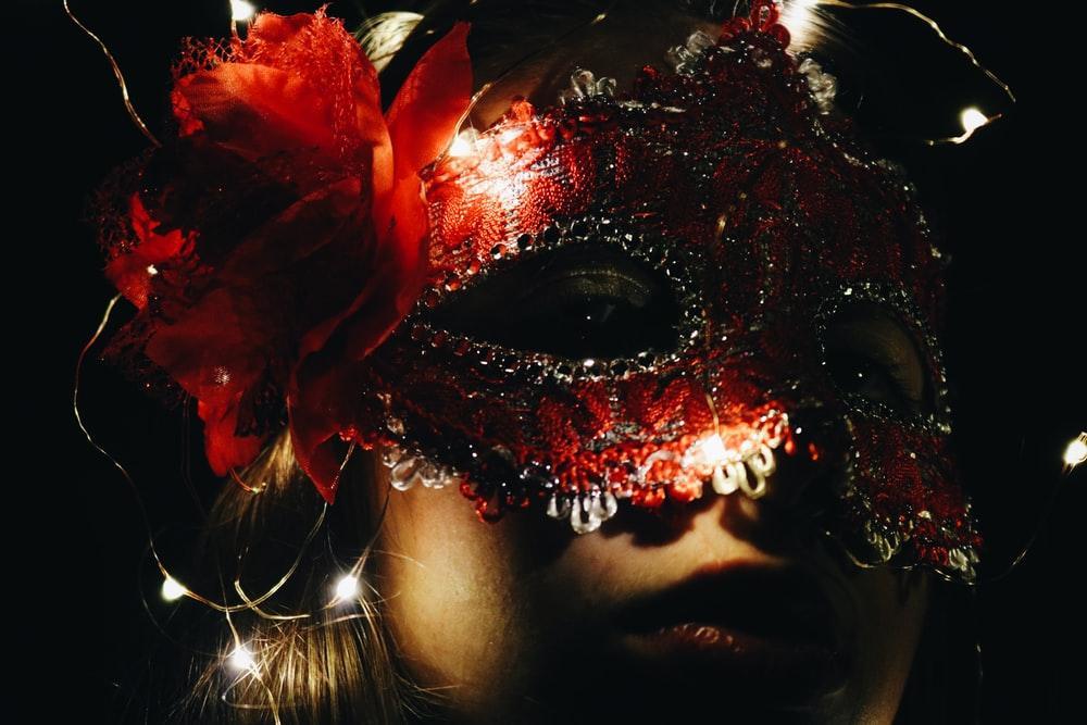 winter masquerade party mask